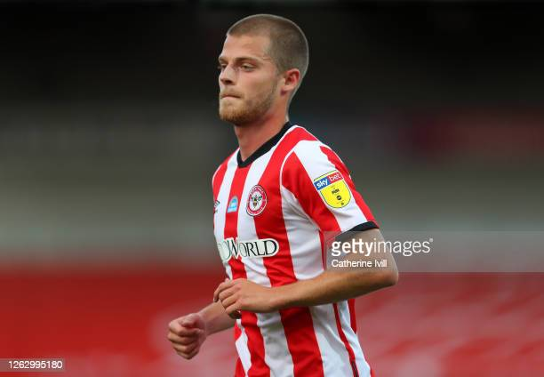 Mathias Jensen of Brentford during the Sky Bet Championship Play Off Semifinal 2nd Leg match between Brentford and Swansea City at Griffin Park on...