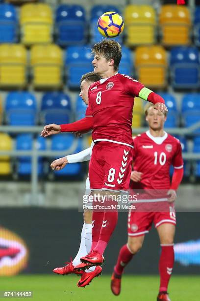 Mathias Jensen of Denmark during UEFA U21 Championship Qualifier match between Poland and Denmark on November 14 2017 in Gdynia Poland