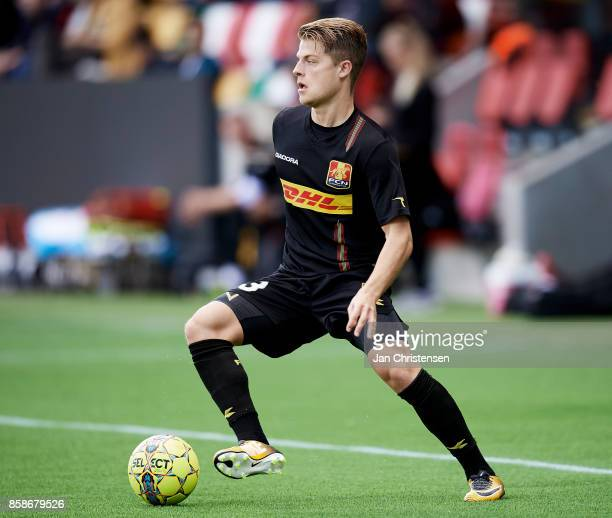 Mathias Jensen of FC Nordsjalland in action during the Danish Alka Superliga match between Silkeborg IF and FC Nordsjalland at JYSK Park on October...