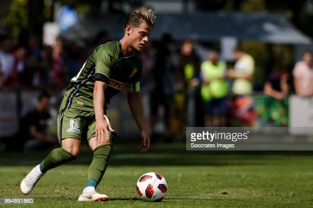 Mathias Jensen of FC Nordsj¾lland during the Club Friendly match between Ajax v FC Nordsjaelland at the Sportpark Putter Eng on July 7 2018 in Putten...