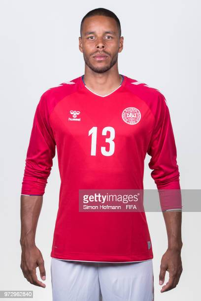 Mathias Joergensen of Denmark poses during official FIFA World Cup 2018 portrait session on June 12 2018 in Anapa Russia