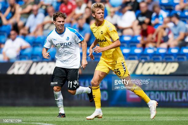 Mathias Jorgensen of OB Odense in action during the Danish Superliga match between Randers FC and OB Odense at BioNutria Park Randers on July 29 2018...