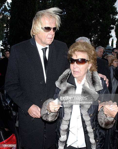 Mathias Kuehn and Purificacion Aguilera attend the funeral for Carla Duval sister of vedette Norma Duval at San Isidro Cementery on November 1 2010...