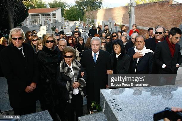 MADRID NOVEMBER 01 Mathias Kuehn Norma Duval Purificacion Aguilera Santiago Paredes and Juan Carlos attend the funeral for Carla Duval sister of...