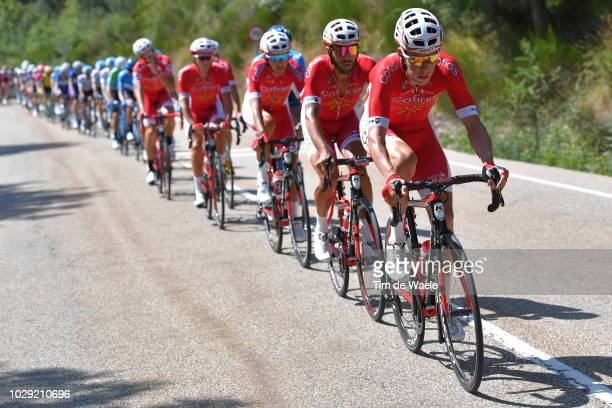 Mathias Le Turnier of France and Team Cofidis / during the 73rd Tour of Spain 2018 Stage 14 a 1714km stage from Cistierna to Alto Les Praeres Nava...
