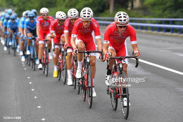 Mathias Le Turnier of France and Team Cofidis / Jesus Herrada of Spain and Team Cofidis Red Leader Jersey / during the 73rd Tour of Spain 2018 Stage...
