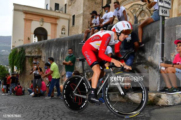 Mathias Le Turnier of France and Team Cofidis Solutions Credits / Duomo di Monreale / Monte Caputo / Cathedral / Public / Fans / during the 103rd...
