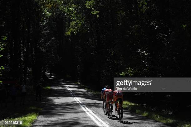 Mathias Le Turnier of France and Team Cofidis Solutions Credits / Michal Paluta of Poland and Team Ccc Sprandi Polkowice Pink Mountain Jersey /...