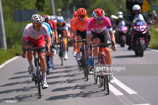 Mathias Le Turnier of France and Team Cofidis Solutions Credits / Tomasz Marczynski of Poland and Team Lotto Soudal Pink Mountain Jersey / during the...