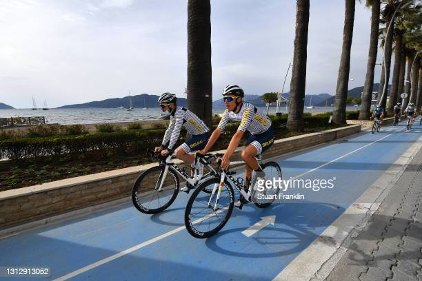 Mathias Le Turnier of France and Team DELKO and Teammates during the 56th Presidential Cycling Tour Of Turkey 2021, Stage 7 a 180km stage from...