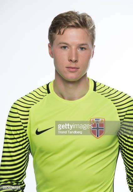 Mathias Lonne Dyngeland of Norway National Team during Photocall at Ullevaal Stadion on June 5 2017 in Oslo Norway