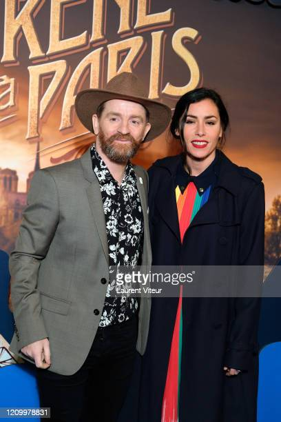 Mathias Malzieu and Singer Olivia Ruiz attends the Une Sirene A Paris premiere at Cinema Max Linder on March 02 2020 in Paris France