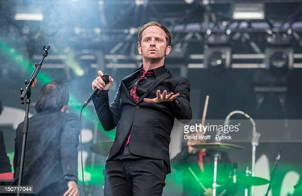 Mathias Malzieu from Dionysos performs at Rock En Seine Festival 10th Anniversary on August 24 2012 in Paris France