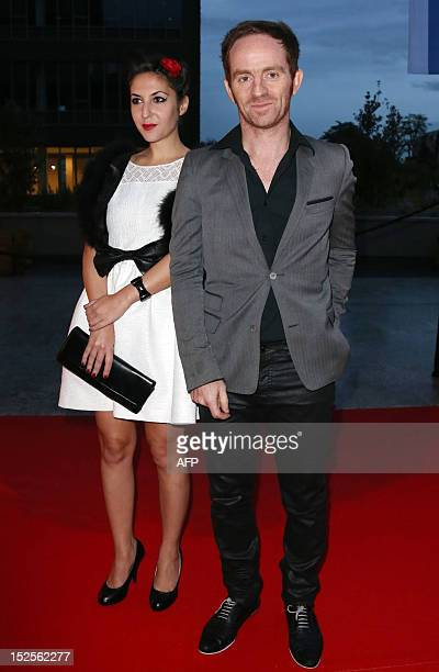 Mathias Malzieu singer of French rock band Dyonisos poses as he arrives to attend the inauguration ceremony of the Cite du cinema a film studios...
