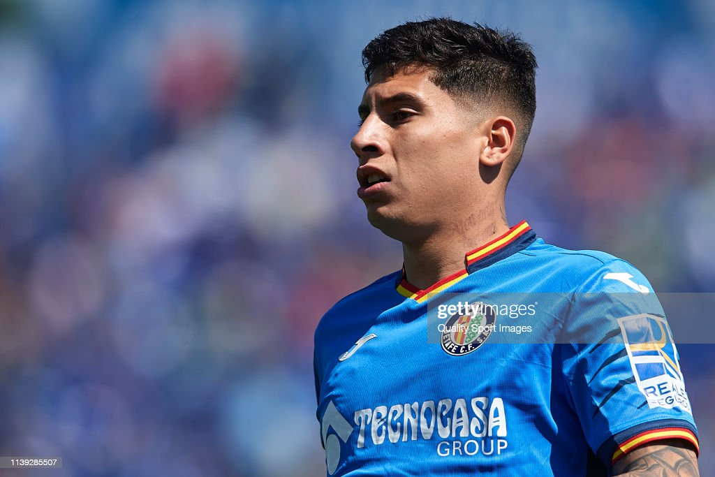 Mathias Olivera of Getafe CF looks on during the La Liga match ...