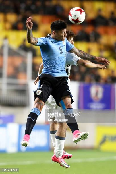 Mathias Olivera of Uruguay in action during the FIFA U20 World Cup Korea Republic 2017 group D match between Uruguay and Japan at Suwon World Cup...