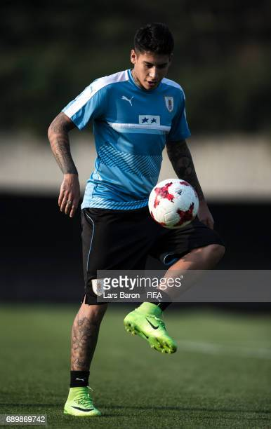 Mathias Olivera of Uruguay is seen during a Uruguay training session at Suwon World Cup Stadium Auxiliary Field on May 29 2017 in Suwon South Korea