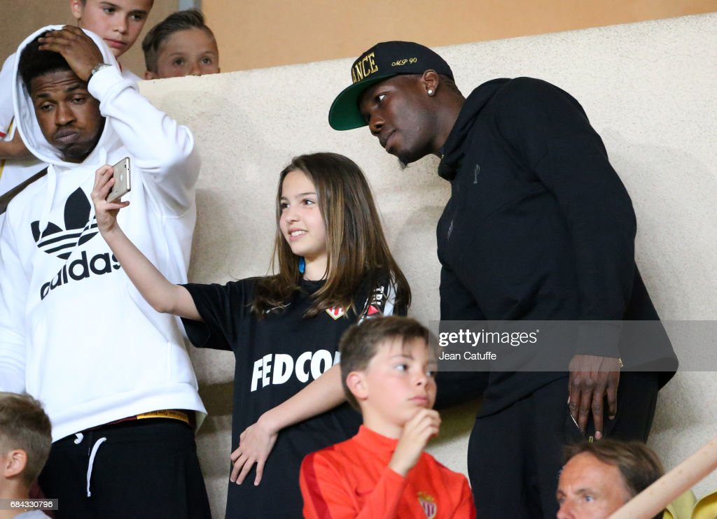Mathias Pogba, brother of Florentin and Paul Pogba poses for a selfie during the French Ligue 1 match between AS Monaco and AS Saint-Etienne (ASSE) at Stade Louis II on May 17, 2017 in Monaco, Monaco.