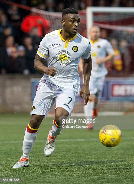 Mathias Pogba of Partick Thistle at Ochilview Park on July 26 2016 in Falkirk Scotland
