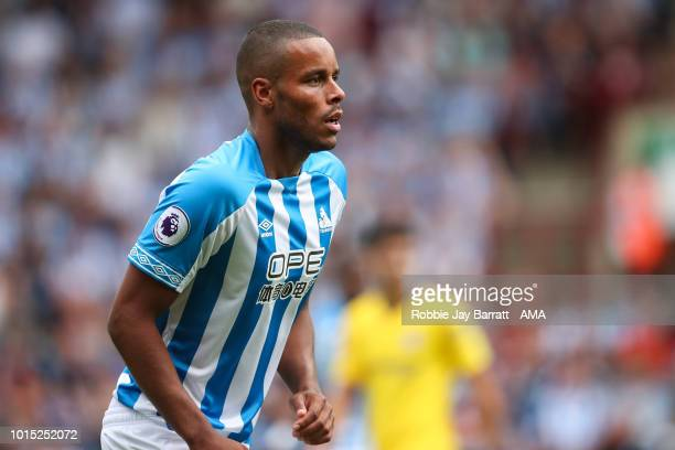 Mathias Zanka Jorgensen of Huddersfield Town during the Premier League match between Huddersfield Town and Chelsea FC at John Smith's Stadium on...