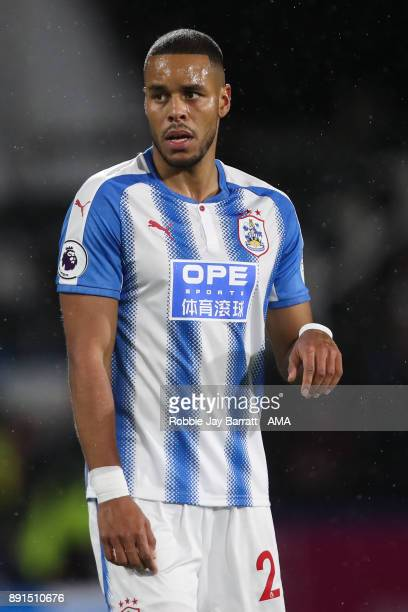 Mathias Zanka Jorgensen of Huddersfield Town during the Premier League match between Huddersfield Town and Chelsea at John Smith's Stadium on...