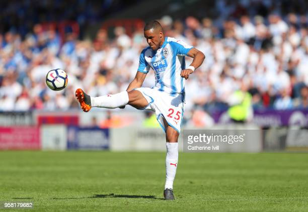 Mathias Zanka Jorgensen of Huddersfield Town during the Premier League match between Huddersfield Town and Arsenal at John Smith's Stadium on May 13...
