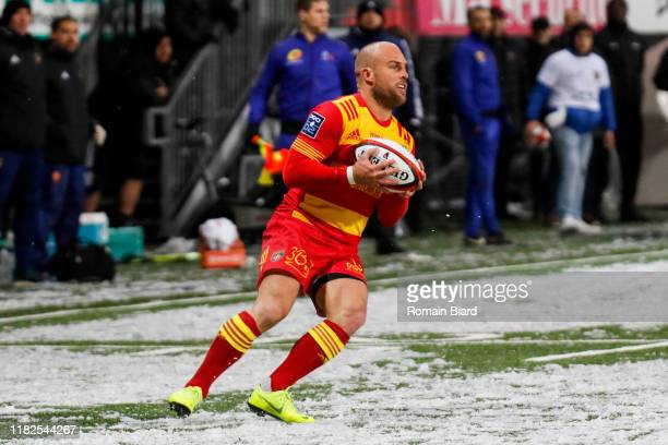 Mathieu ACEBES of Perpignan during the Pro D2 match between US Oyonnax and US Harlequins Perpignanais on November 14 2019 in Oyonnax France