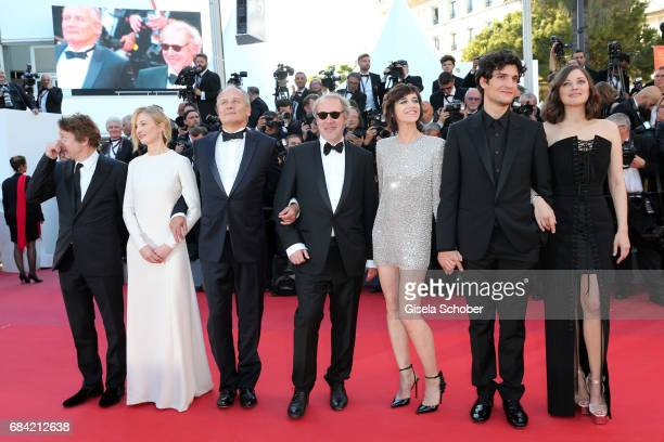 Mathieu Amalric Alba Rohrwacher director Arnaud Desplechin Hippolyte Girardot Charlotte Gainsbourg Louis Garrel Marion Cotillard attend the 'Ismael's...