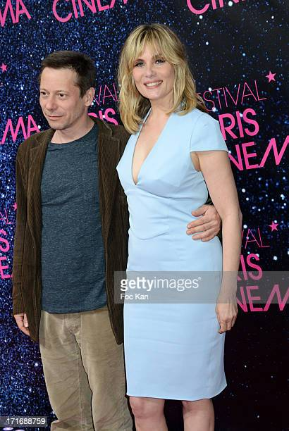 Mathieu Amalric and Emmanuelle Seigner attend the Festival Paris Cinema Opening Night And Premiere Of 'La Venus A La Fourrure' at the Gaumont...