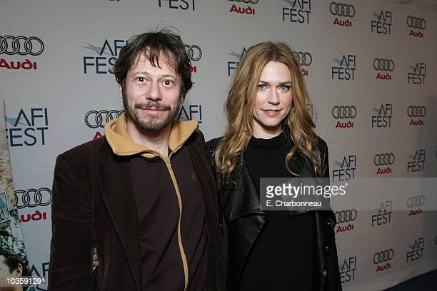 """Mathieu Amalric and Marie-Josee Croze at the Los Angeles Premiere of Miramax """"The Diving Bell and The Butterfly"""" at the ArcLight Theatre on November..."""