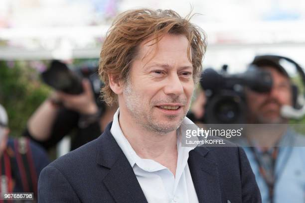 Mathieu Amalric attends 'Barbara' Photocall during the 70th annual Cannes Film Festival at Palais des Festivals on May 18 2017 in Cannes France