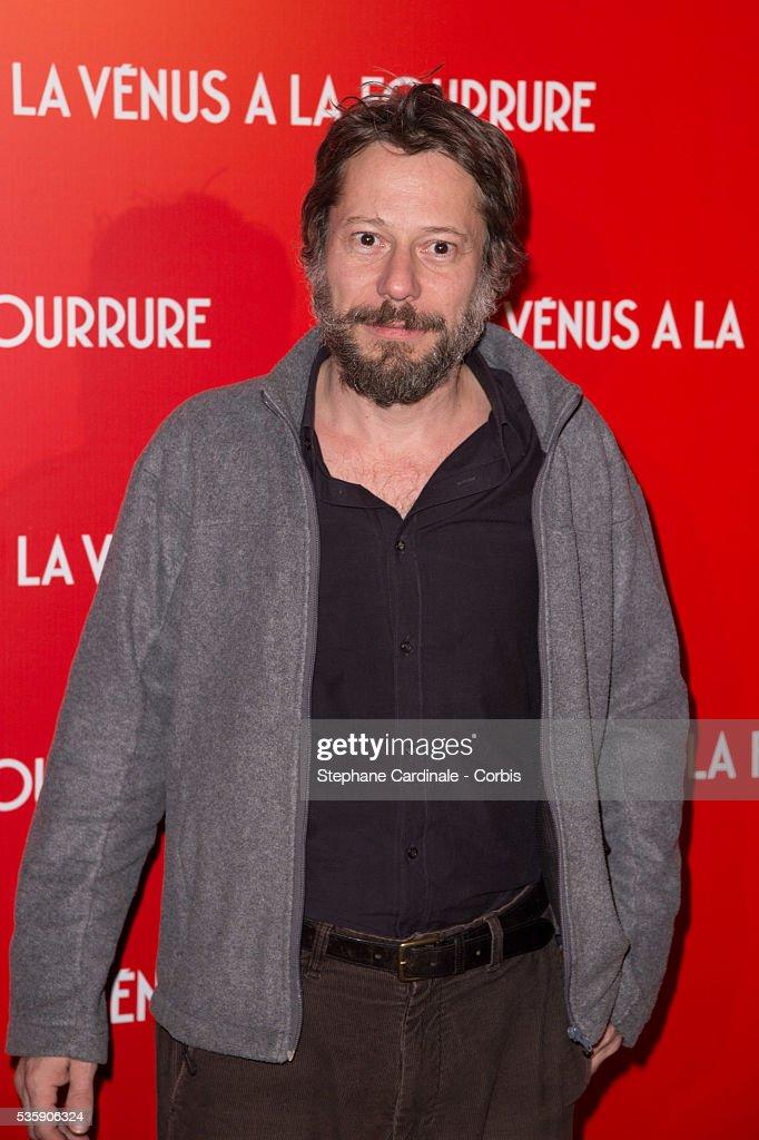 Mathieu Amalric attends 'La Venus A La Fourrure' (Venus In Fur) Premiere at Cinema Gaumont Marignan, in Paris.