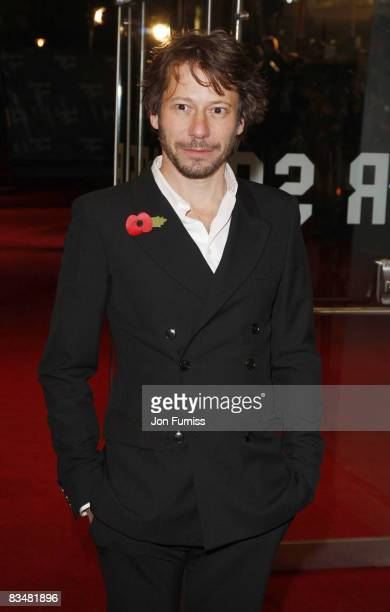 Mathieu Amalric attends the world premiere of 'Quantum of Solace' at Odeon Leicester Square on October 29, 2008 in London, England.