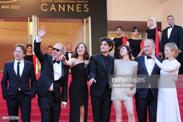 Mathieu Amalric director Arnaud Desplechin Marion Cotillard Louis Garrel Charlotte Gainsbourg Hippolyte Girardot and Alba Rohrwacher attend the...