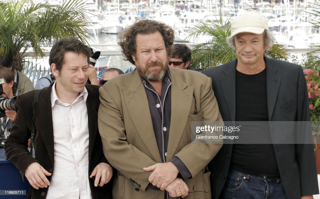 Mathieu Amalric, Julian Schnabel and Patrick Chesnais