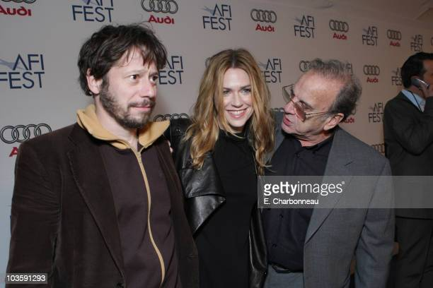 """Mathieu Amalric, Marie-Josee Croze and Screenwriter Ronald Harwood at the Los Angeles Premiere of Miramax """"The Diving Bell and The Butterfly"""" at the..."""