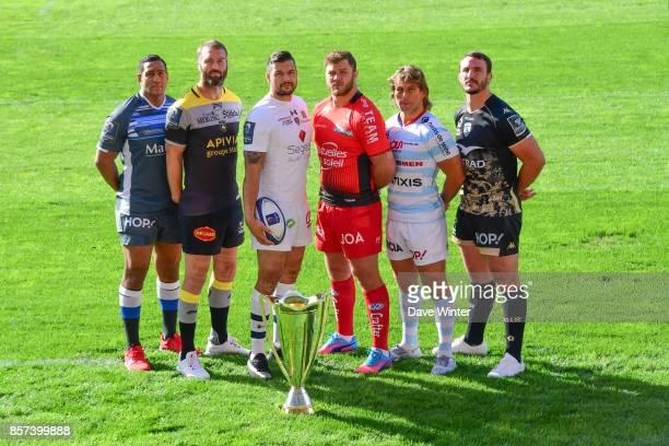 Mathieu Babillot of Castres James Eaton of La Rochelle Damien Chouly of Clermont Duane Vermeulen of Toulon Dimitri Szarzewski of Racing 92 Louis...