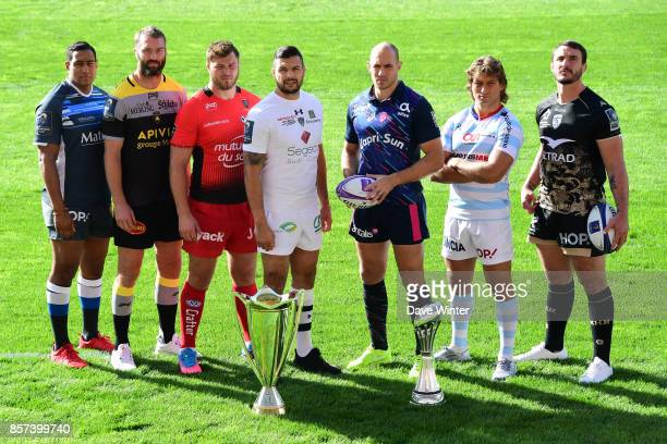 Mathieu Babillot of Castres James Eaton of La Rochelle Duane Vermeulen of Toulon Damien Chouly of Clermont Sergio Parisse of Stade Francais Paris...