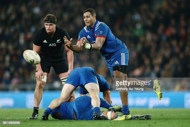 Mathieu Babillot of France in action during the International Test match between the New Zealand All Blacks and France at Forsyth Barr Stadium on...