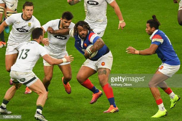 Mathieu Bastareaud during the Test match between France and South Africa on November 10 2018 in Paris France