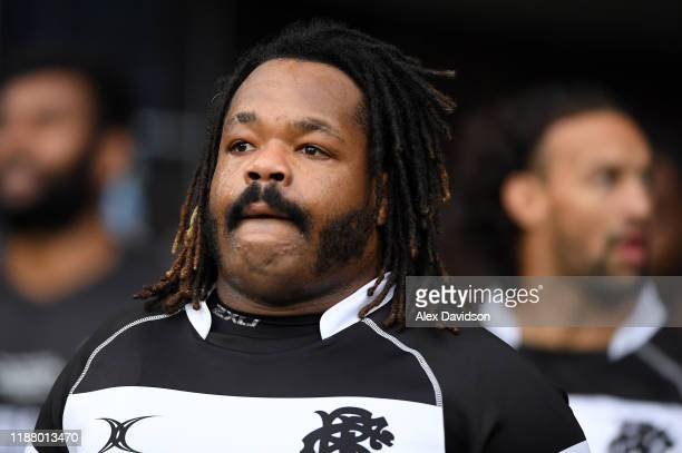 Mathieu Bastareaud of Barbarians walks out the tunnel during the Killik Cup match between Barbarians and Fiji at Twickenham Stadium on November 16...