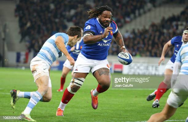 Mathieu Bastareaud of France during the international friendly rugby match between France and Argentina at Stade Pierre Mauroy on November 17 2018 in...