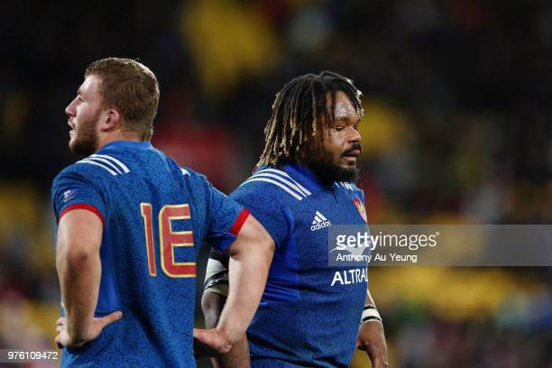 Mathieu Bastareaud of France looks on after losing the International Test match between the New Zealand All Blacks and France at Westpac Stadium on...