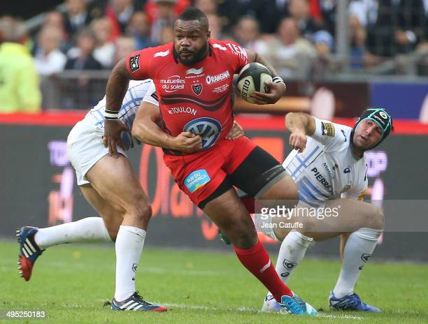 Mathieu Bastareaud of RC Toulon in action during the Top 14 Final between RC Toulon and Castres Olympique at Stade de France on May 31 2014 in...
