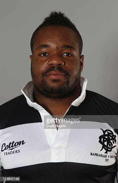 Mathieu Bastareaud of the Barbarians poses for a portrait at Richmond Athletic Ground on May 25 2011 in Richmond upon Thames England