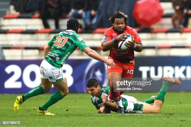 Mathieu Bastareaud of Toulon during the Champions Cup match between Toulon and Trevise at Felix Mayol Stadium on January 14 2018 in Toulon France
