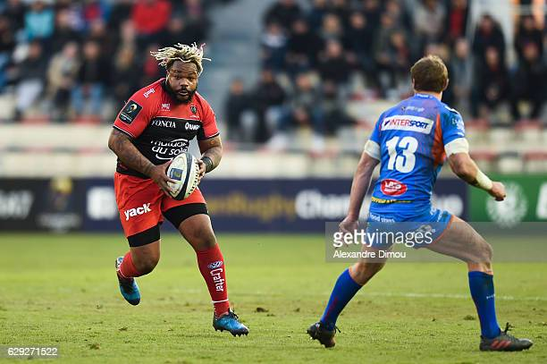 Mathieu Bastareaud of Toulon during the European Champions Cup match between Toulon and Scarlets on December 11 2016 in Toulon France