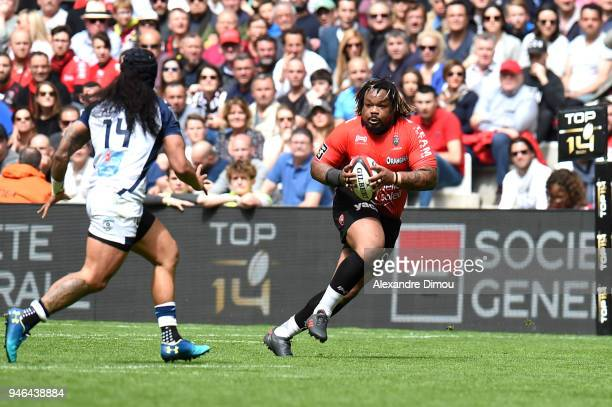 Mathieu Bastareaud of Toulon during the French Top 14 match between Toulon and Montpellier at Stade Velodrome on April 14 2018 in Marseille France