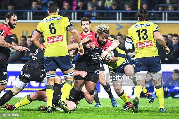 Mathieu Bastareaud of Toulon during the Top 14 match between Clermont Auvergne and RC Toulon on January 8 2017 in ClermontFerrand France