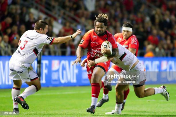 Mathieu Bastareaud of Toulon during the Top 14 playoff match between RC Toulon and Lyon OU at Felix Mayol Stadium on May 18 2018 in Toulon France